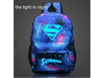 Satchel SCHOOL SUPERMAN  ryggsäck Blue Star