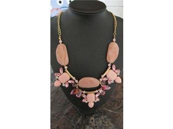 Fashion trendigt halsband rosa vit snöre stenar smycke accessoar mode pärlor - Göteborg - Fashion trendigt halsband rosa vit snöre stenar smycke accessoar mode pärlor - Göteborg