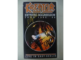 "KREATOR - SIGNERAD VHS - ""LIVE IN EAST BERLIN"" - SIGNED"
