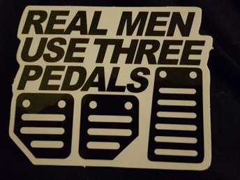 REAL MEN klistermärke klisterdekal dekal sticker motor racing