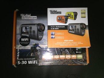 Actionkamera Rollei S30 WiFi. ord 1199kr. 3 mån,fint skick, knappt anvä. full HD - Mockfjärd - Actionkamera Rollei S30 WiFi. ord 1199kr. 3 mån,fint skick, knappt anvä. full HD - Mockfjärd