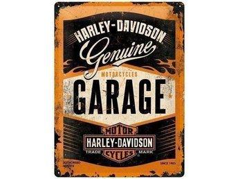 """Harley Davidson Plåtskylt """"Garage"""" - Växjö - Harley Davidson Plåtskylt """"Garage"""" - Växjö"""