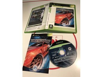 Xbox Originalet Första Xboxet original spel Need for speed Underground