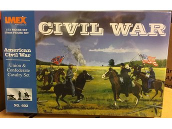 UNION & CONFEDERATE CAVALRY SET  AMERICAN CIVIL WAR     IMEX  1/72 Byggsats