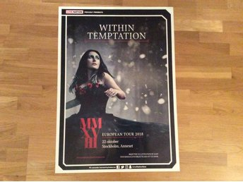 Within temptation turneaffisch 2018