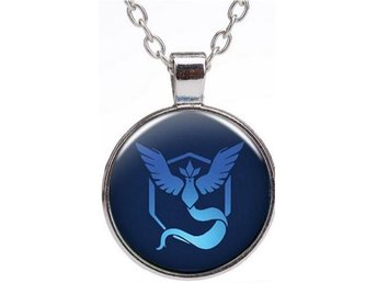 Pokemon Go Pokeball Team Mystic silverfärgat halsband