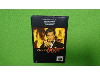 007 GoldenEye SVENSK Manual 64 N64 Nintendo 64 golden eye Instruktionsbok