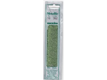 Javascript är inaktiverat. - Stralsund - BRODERIGARN Madeira Metallic No.10 färg: 352 Lime Green 20m förpackning 40% Polyamid, 60% metall. Polyester The all-purpose MADEIRA metallic thread with more uses than any other metallic thread. Excellent for all types of embroidery, crochet - Stralsund