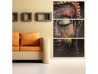 40x60cm Buddha Statues Triple Frameless Canvas Prints Oil...