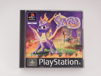 Playstation / 1 Ps1  --  Spyro the Dragon  --  Svensk Utgåva  --  Barnspel