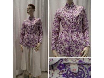 a0ecdb44 Retro långklänning lila blå 70-tal (267088865) ᐈ vintagecorner på ...