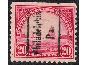USA 1923 The Golden Gate Issue med segelförande lastvåt!