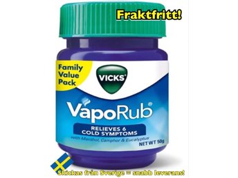 1burk Vicks Vaporub 50ml Salva Liniment FRI FRAKT!