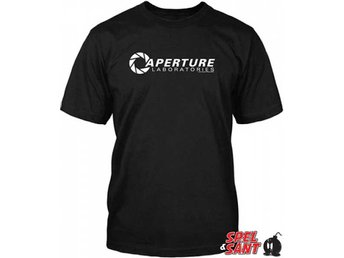 Portal 2 Aperture Laboratories Svart T-Shirt (X-Large)