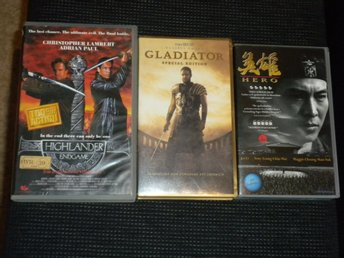 VHS -HIGHLANDER ENDGAME / GLADIATOR / HERO