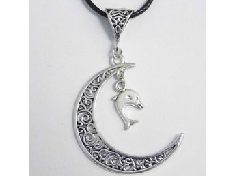 Delfin måne halsband / Dolphin moon necklace