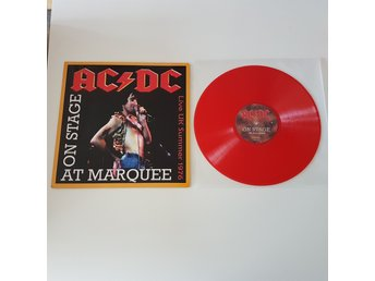"AcDc 12"" On stage at Marquee. LIVE 1976. RED vinyl RARE. Incl. Unrealesed demo. - Kungälv - AcDc 12"" On stage at Marquee. LIVE 1976. RED vinyl RARE. Incl. Unrealesed demo. - Kungälv"