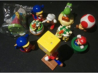 McDonalds 10 st Super Mario leksaker - Mac Donalds HappyMeal Mc Donalds