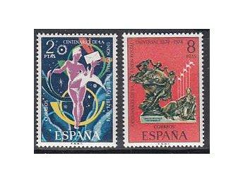 Spanien 1974, Mi nr: 2106-07 ** - Njurunda - Spanien 1974, Mi nr: 2106-07 ** - Njurunda