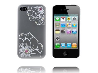 Diamond Flower - Matt Transparent (Vit) iPhone 4S Skal
