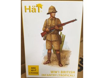 WWI BRITISH INFANTRY (TROPICAL)    HäT 1/72 Byggsats