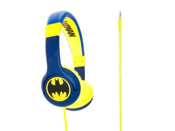 BATMAN Hörlur Junior On-Ear 85dB Blå Batlogo