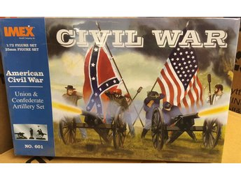 UNION & CONFEDERATE ARTILLERY SET  AMERICAN CIVIL WAR     IMEX  1/72 Byggsats