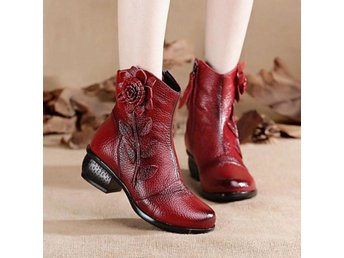 Dam Boots Toe Botas Classics Footwear Size 35-42 Red 36