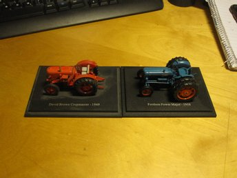 2xTRAKTORER  DAVID BROWN 1949 +FORDSON MAJOR 1958