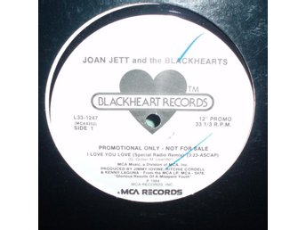 "JETT JOAN - I love you love , RARE US 12""MAXI 1984 PROMO , ,"