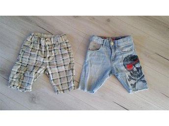 Shorts storlek 104 denim och Thunder valley - ängelholm - Shorts storlek 104 denim och Thunder valley - ängelholm