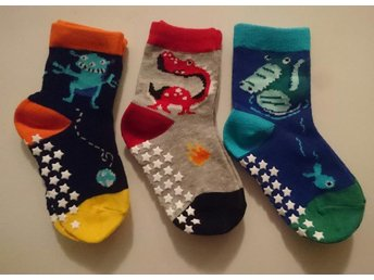 Antihalksockar Anti halk sockar nya stl 22/24 3-pack Walking