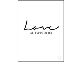 """A3 Poster / Print : """"Love at first sight"""" - Helsingborg - A3 Poster / Print : """"Love at first sight"""" - Helsingborg"""
