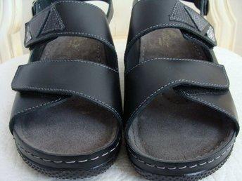 Bot Sudan kontrast  NYA EMBLA SANDALER 38 svart skinn ergonomiska c.. (401609476) ᐈ ...