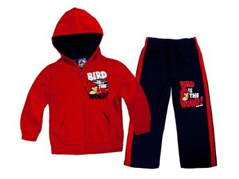 Angry Birds sweatshirt set med officiell lapp, stl 92