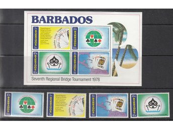 Barbados 1978 Mnr:  444-47/block 11 **