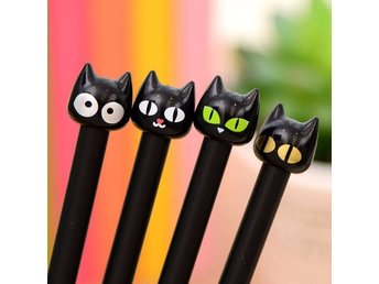 4st Kattpennor Cute Cat Gel Ink Pens