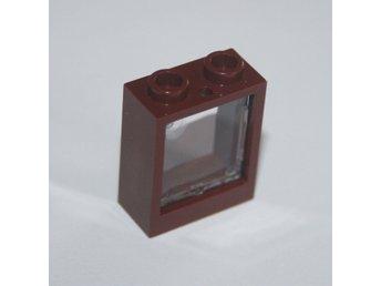 LEGO - Fönster - 1x2x2 - Rödbrunt fönster med glas - Bredaryd - LEGO - Fönster - 1x2x2 - Rödbrunt fönster med glas - Bredaryd
