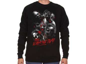 XL : Walking dead stil Sweatshirt - Klassisk Zombie Horrror Halloween