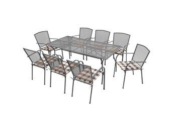 Javascript är inaktiverat. - Sk Venlo - Denna matgrupp i metall har en stilig nätdesign som ger din altan, trädgård eller matsal en modern stil. När du bjuder över gäster kan de koppla av på denna moderna matgrupp i industriell stil. Stolarna levereras med mjuka, bekväma dyno - Sk Venlo