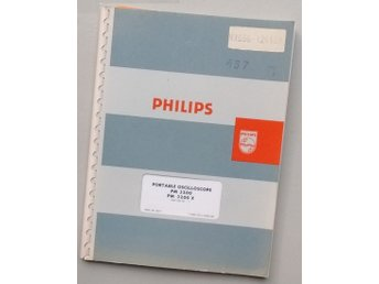 Manual för oscilloskop Philips PM 3200