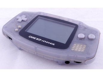 Game Boy Advance Console (Glacier / Clear Blue, Back Hinge Broken) -