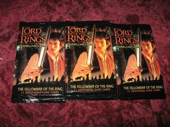 3 ST THE FELLOWSHIP OF THE RING BOOSTER PAKET (SAGAN OM RINGEN) LOTR
