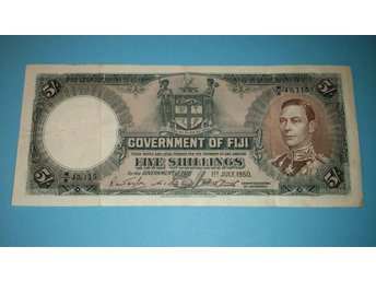 Fiji  ¤ P37j ¤ 5 Shillings ¤ 1950 ¤ Sign. Taylor Bankting Smith ¤ KG