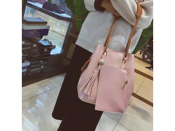 Women Handbag Shoulder Bags Tote Purse Messenger Satchel Pink with mini Bag - Chittur - Women Handbag Shoulder Bags Tote Purse Messenger Satchel Pink with mini Bag - Chittur