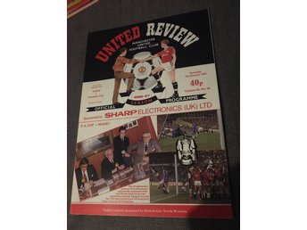 FOTBOLL Program Manchester United FC v Coventry CIty FC FA Cup 31/1 1987