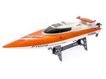 Javascript är inaktiverat. - Gränna - Vänder sig själv om båten hamnar upp & ned. 30 Km/h 460mm lång Vattenkyld 2.4Ghz Lithium batteri Förmodligen den snabbaste båt man kan köpa för dessa pengar. Vattenkyld 540-motor ger den radiostyrda båten en toppfart på 30 km/h. För a - Gränna