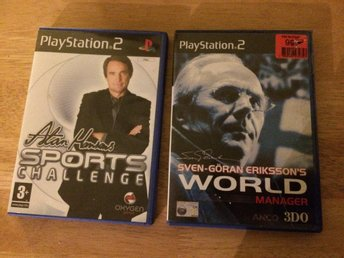 2 st Playstation 2 spel, Sven-Göran Eriksson's World Manager + Alan Hansen's