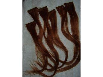 183ad676701e Hårförlängningar, extensions rött äkta hår 43 c.. (342060958) ᐈ Köp ...