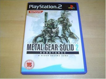 Metal Gear Solid 2 Substance Sony Playstation 2 PS2 PAL *NYTT*